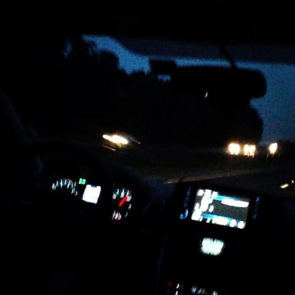 All night driving now at Hudston